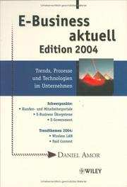 Cover of: E-Business Aktuell | Daniel Amor