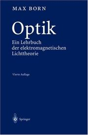 Cover of: Optik | Max Born