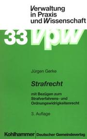 Cover of: Strafrecht by Jürgen Gerke