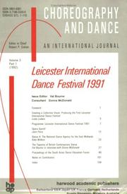 Cover of: Second Leicester International Dance Festival by Donna McDonald