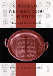 Cover of: Sources of Western Zhou history by Shaughnessy, Edward L.