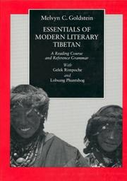 Cover of: Essentials of modern literary Tibetan | Melvyn C. Goldstein
