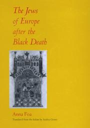 Cover of: The Jews of Europe after the Black Death by Anna Foa