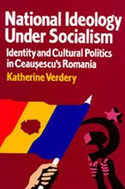 Cover of: National Ideology Under Socialism by Katherine Verdery