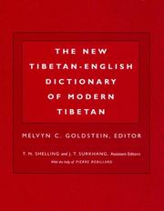 Cover of: The New Tibetan-English Dictionary of Modern Tibetan (Dictionary) | Melvyn C. Goldstein