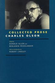 Cover of: Collected prose by Charles Olson