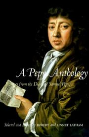 Cover of: A Pepys anthology | Samuel Pepys