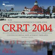 Cover of: Crrt 2004 - A Multimedia Conference Compilation | R. L. Mehta