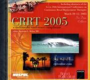 Cover of: Crrt 2005 - a Multimedia Conference Compilation by R. L. Mehta