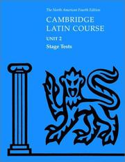 Cover of: North American Cambridge Latin Course Unit 2 Stage Tests | North American Cambridge Classics Project