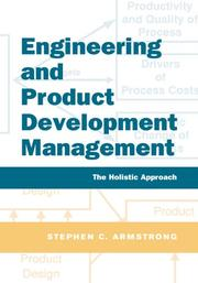 Cover of: Engineering and Product Development Management by Stephen Armstrong