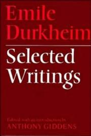 Cover of: Selected writings | Émile Durkheim