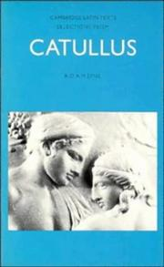 Cover of: Selections from Catullus (Cambridge Latin Texts) | Gaius Valerius Catullus