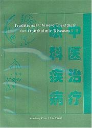 Cover of: Traditional Chinese Treatment for Ophthalmic Diseases | Hou Jinglun
