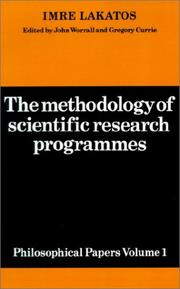 Cover of: The Methodology of Scientific Research Programmes | Imre Lakatos