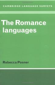 Cover of: The romance languages | Rebecca Posner