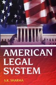 Cover of: American Legal System | S.R. Sharma