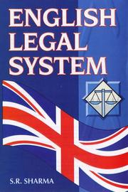 Cover of: English Legal System | S.R. Sharma