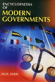 Cover of: Encyclopaedia of Modern Governments - 3 Vols | M.H. Syed
