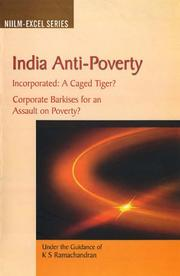 Cover of: India Anti-poverty Incorporated | K.S. Ramachandran