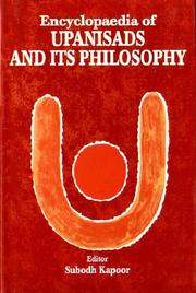Cover of: Encyclopaedia of the Upanisads and Its Philosophy | Subodh Kapoor