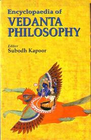Cover of: Encyclopaedia of Vedanta Philosophy | Subodh Kapoor