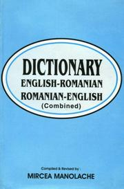 Cover of: English-Romanian and Romanian-English Dictionary by Mircea Manolache