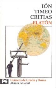 Cover of: Ion, Timeo, Critias | Plato