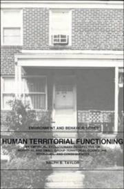Cover of: Human territorial functioning by Ralph B. Taylor