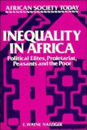 Cover of: Inequality in Africa | E. Wayne Nafziger