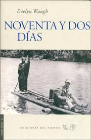 Cover of: Noventa y DOS Dias by Evelyn Waugh