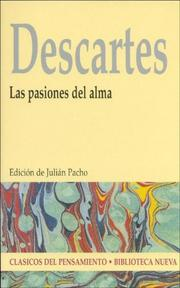 Cover of: Las Pasiones del Alma | René Descartes