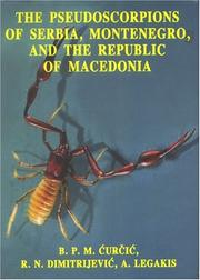 Cover of: Pseudoscorpions of Serbia, Montenegro, & the Republic of Macedonia (Monographs) | B. P. M. Curcic