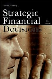Cover of: Strategic Financial Decisions | Matthias Hamberg