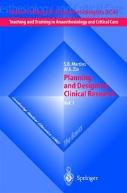 Cover of: Planning and Designing Clinical Research by S.B. Martins