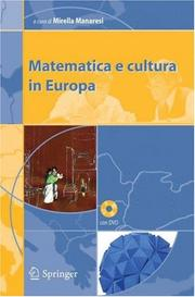 Cover of: Matematica e cultura in Europa by Mirella Manaresi