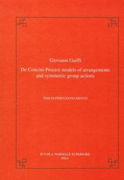 Cover of: De Concini-Procesi models of arrangements and symmetric group actions by Giovanni Gaiffi