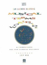 Cover of: Musical Terms World Wide | Jan Laurens Hartong