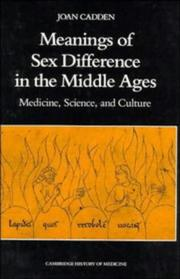 Meanings of sex difference in the Middle Ages