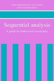 Cover of: Sequential analysis by John Mordechai Gottman