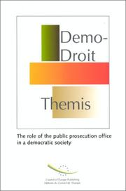 Cover of: The role of the public prosecution office in a democratic society | Council of Europe
