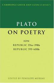 Cover of: Plato on poetry | Plato