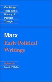 Cover of: Marx | Karl Marx