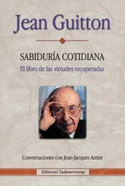 Cover of: Sabiduria Cotidiana | Jean Guitton