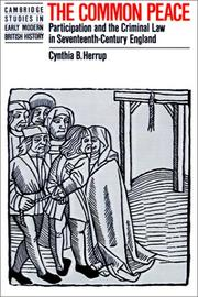 Cover of: The Common Peace by Cynthia B. Herrup