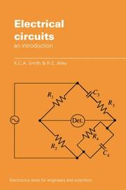 Cover of: Electrical circuits | K. C. A. Smith