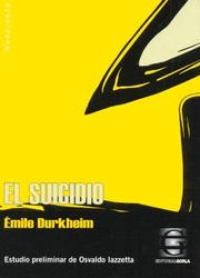 Cover of: El Suicidio | Émile Durkheim