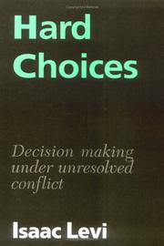 Cover of: Hard Choices | Isaac Levi