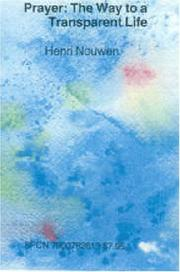 Cover of: Prayer by Henri Nouwen