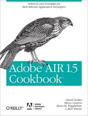 Cover of: Adobe AIR 1.5 Cookbook by Tucker, David